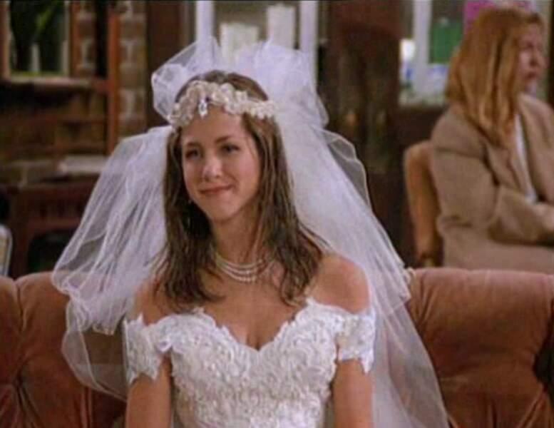 Et la belle Rachel Green (Jennifer Aniston) dans l'épisode pilote de Friends.