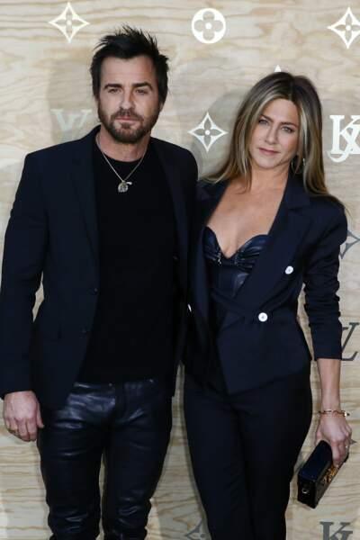 Le couple Justin Theroux et Jennifer Anniston, plus sexy que jamais pour le dîner Vuitton