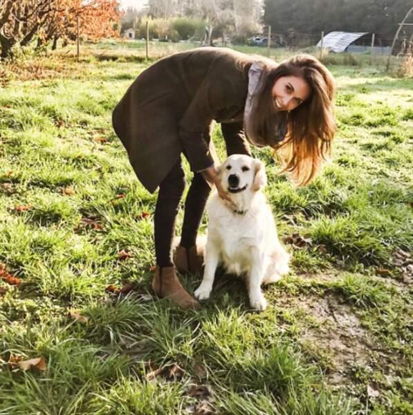 Et hop, une petite photo avec ce joli chien, également croisé pendant Zone Interdite