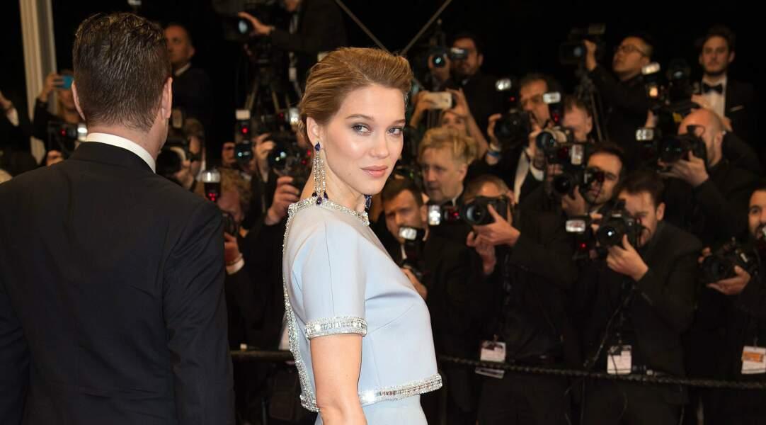 A l'avant-première du film grec The Lobster en mai dernier à Cannes, Léa illumine le tapis rouge et les paparazzis.