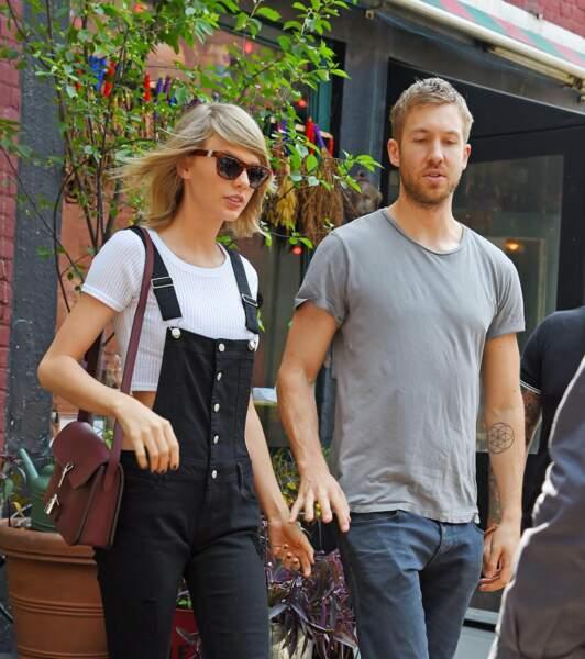 La chanteuse Taylor Swift et le DJ Calvin Harris, en couple depuis 2015.