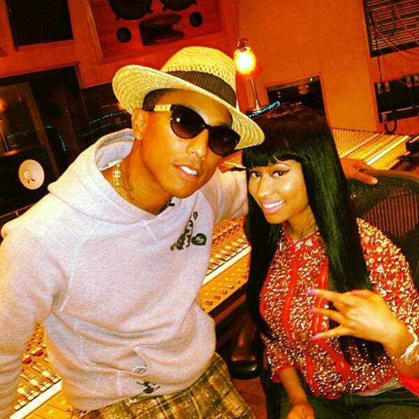 Pharrell Williams est un proche de Nicky Minaj aussi.