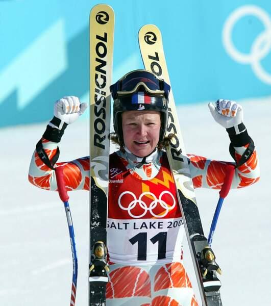 Carole Montillet a été championne de ski alpin de 1991 à 2006 et a notamment décroché l'or olympique en 2002