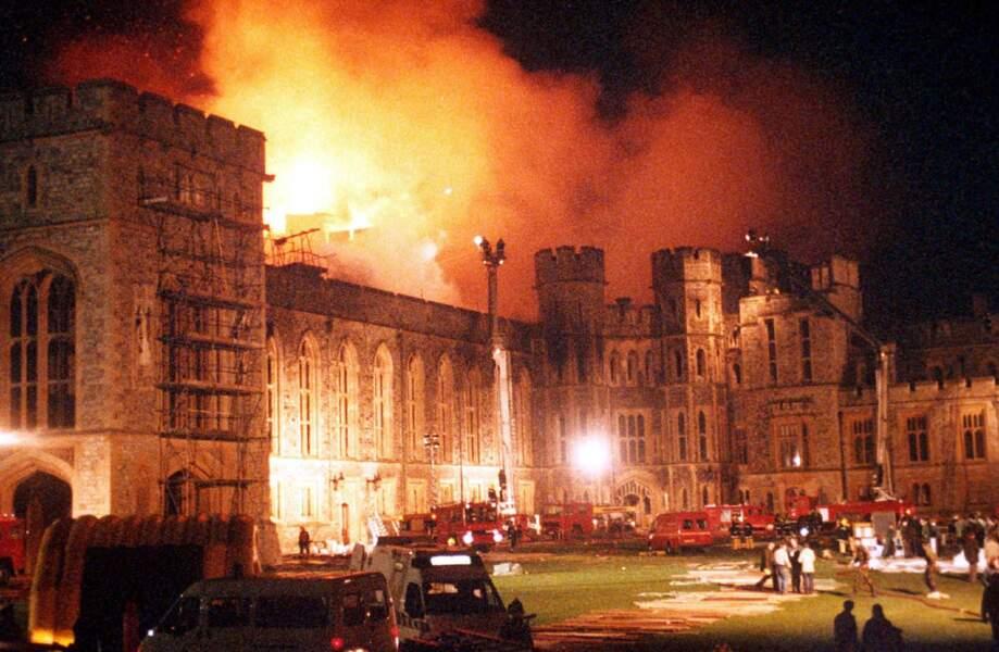 et le château de Windsor brûle…