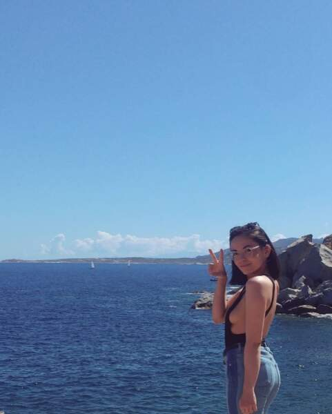 Agathe Auproux nous en a mis plein la vue en Corse.