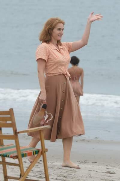 Kate Winslet en mode Fifties, sur une plage de New York, pour le prochain film de Woody Allen