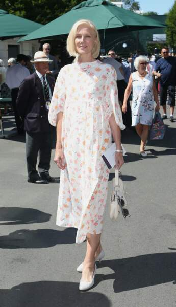 L'actrice Joely Richardson, radieuse