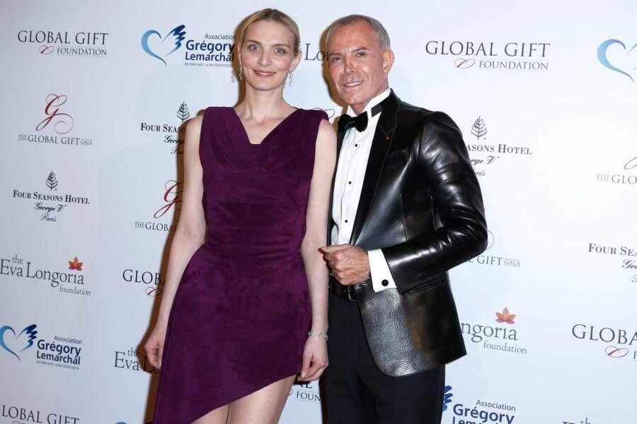 Le couturier Jean-Claude Jitrois et l'actrice Sarah Marshall