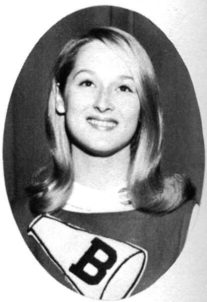 Meryl Streep pom pom girl en 1966