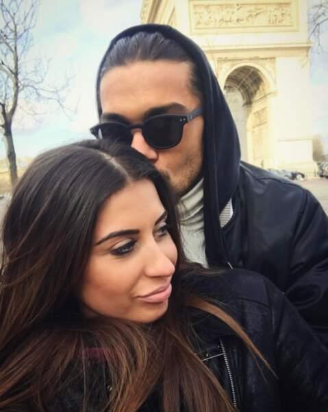 Ah, c'est beau l'amour ! Martika et Julien Guirado étaient ensemble à Paris.