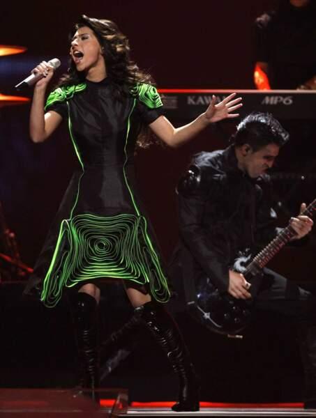 La chanteuse géorgienne s'est malheureusement méchamment loupée sur le choix de la robe.