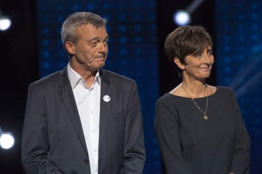 Laurence et Pierre Lemarchal, émus