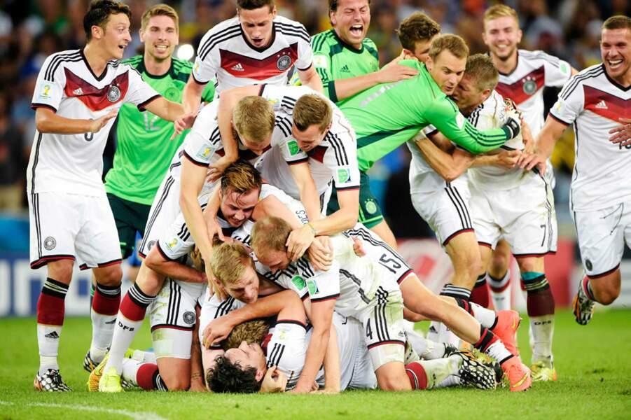 L'équipe d'Allemagne en pleine célébration