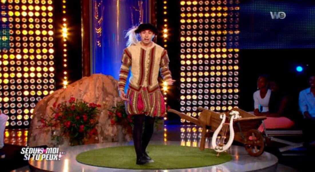 Messir ! Messir ! Un ménestrel qui drague sur un plateau télé !