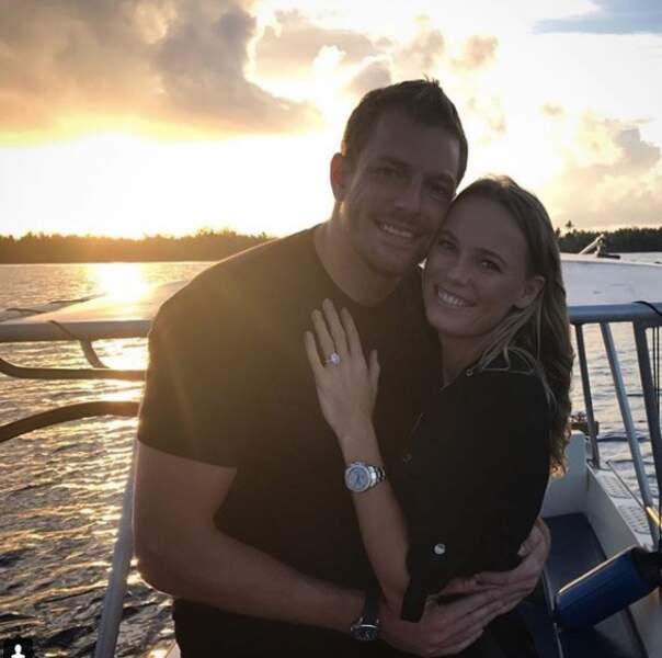 Début novembre, Caroline Wozniacki célébrait ses fiançailles avec David Lee dans un lieu paradisiaque