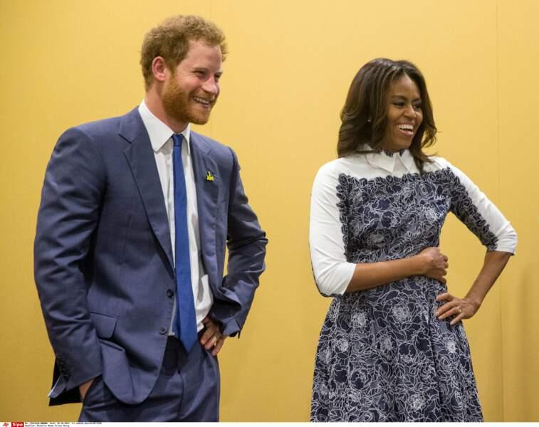 Michelle Obama, il l'adore ! D'autant qu'elle défend ses Invictus Games à fond !