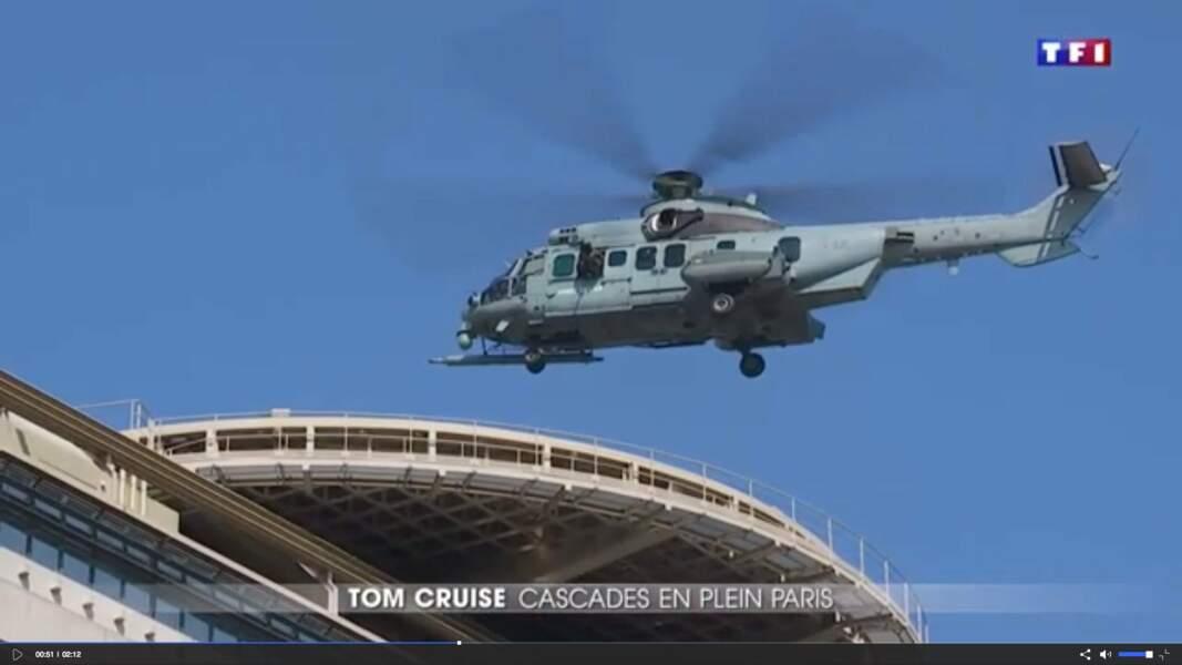 Le tournage d'une scène d'hélicoptère sur le toit du ministère des Finances (Bercy) a été un événement médiatique.