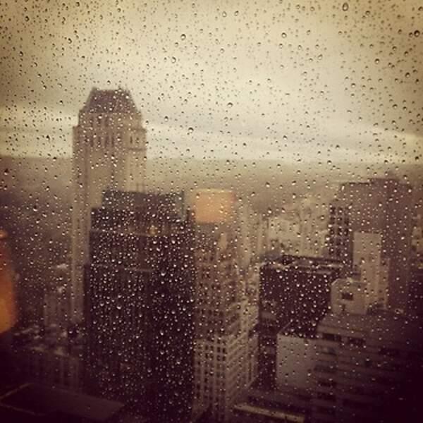 L'ouragan Sandy vu de la fenêtre d'Aaron Paul, le héros de Breaking Bad...