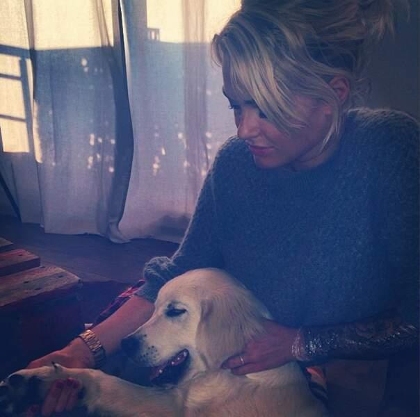 On reste chez nos amis les animaux avec le chiot de Caroline Receveur !