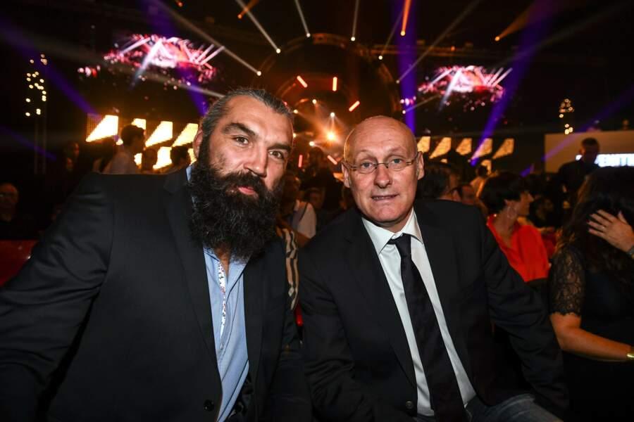 Autre président, celui de la Fédération française de rugby, Bernard Laporte, en compagnie de Sebastien Chabal