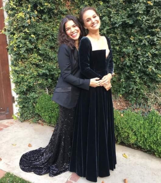 Natalie Portman et America Ferrera sont apparues très complices