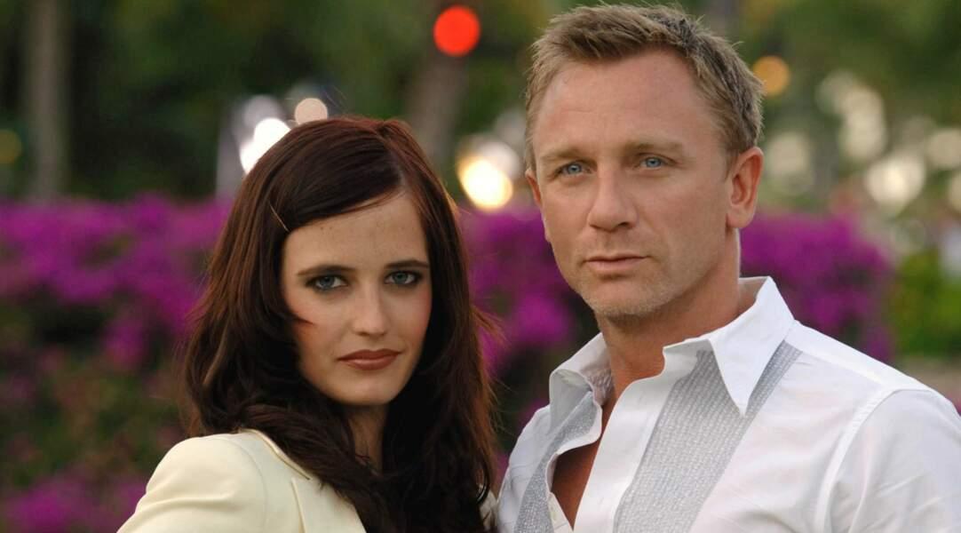 Sur le tournage de Casino Royale (2006), Eva (soupir...) Green et le plus Bond des James, Daniel Craig.