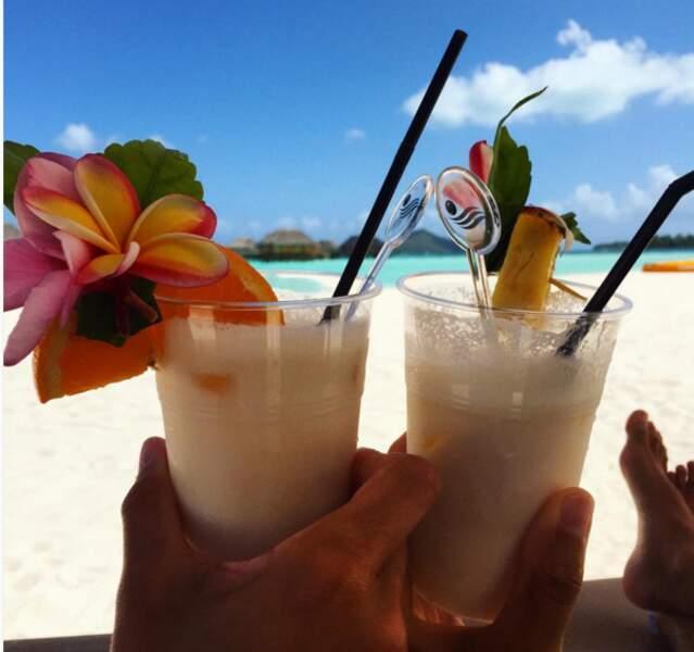 Comme Marine Lorphelin et son chéri Christophe à Bora Bora #jalousie