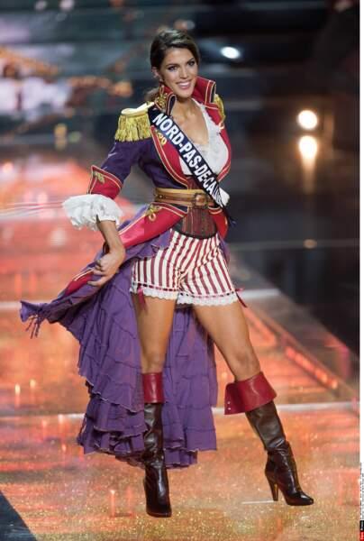 Miss Nord-Pas-de-Calais avait défilé plus tôt déguisée en pirate