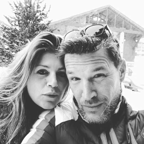 Benjamin Castaldi skiait quant à lui à Val-d'Isère. Avec sa femme Aurore, pas besoin de faire fondre la glace…