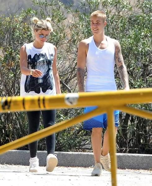 Le chanteur Justin Bieber et Sofia Richie, en couple depuis cette année.