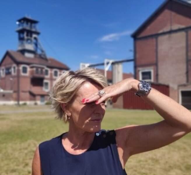 Sophie Davant découvre les mines de Oignies où elle va tourner ce prime spécial Journées du patrimoine