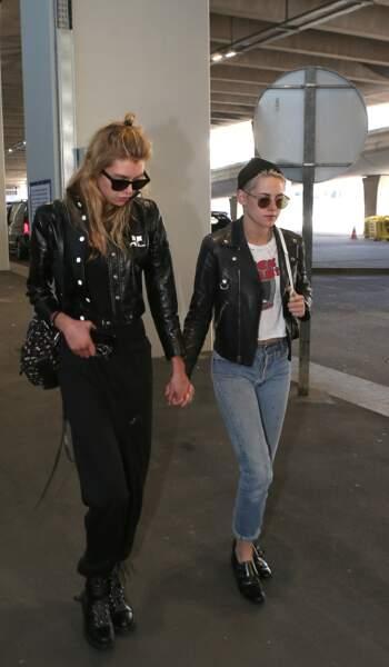 La top-model Stella Maxwell et l'actrice Kristen Stewart.