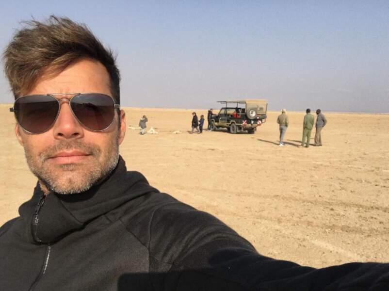 Et Ricky Martin, en famille au même endroit pour un safari !