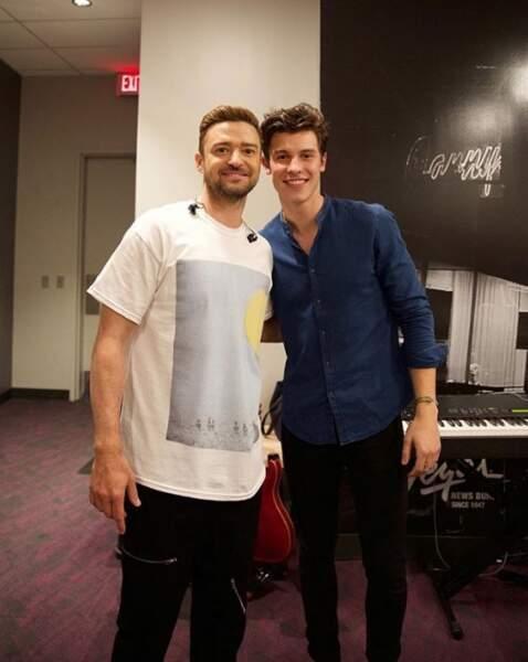 Un duo de beaux gosses : Justin Timberlake et Shawn Mendes réunis.