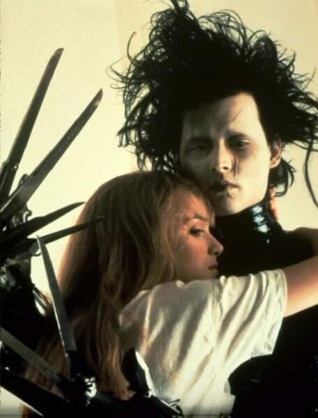 Avec un monstre gentil  : Winona Ryder et Johnny Depp dans Edward aux mains d argent (1991)