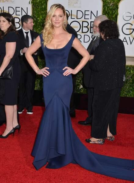 Katherine Heigl, la star de Grey's Anatomy, dans une belle robe bleue