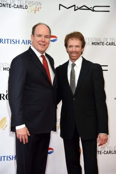Rencontre au sommet : Albert de Monaco et le producteur Jerry Bruckheimer (Les Experts)