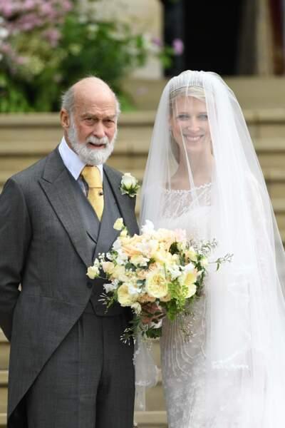 Lady Gabriella Windsor et son mère le prince Michael de Kent avant la cérémonie