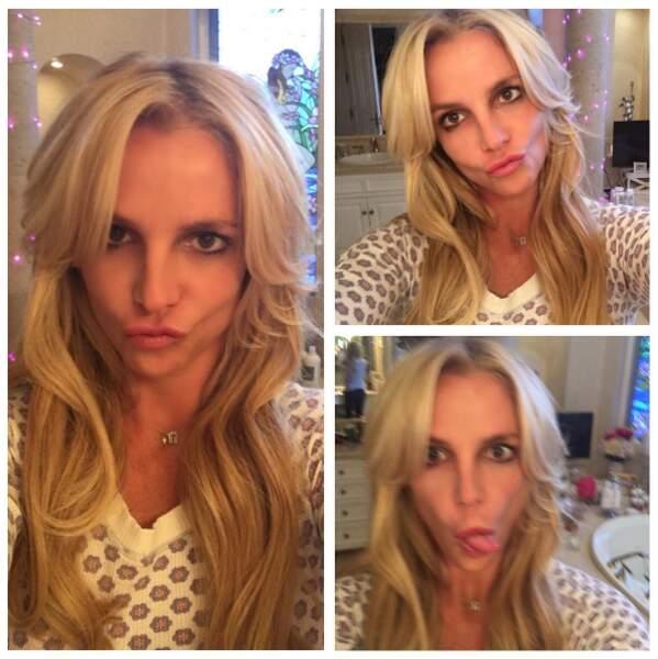 Britney Spears nous a montré sa nouvelle coupe à grand coup de duckfaces. Tu n'étais pas obligée, Britney.