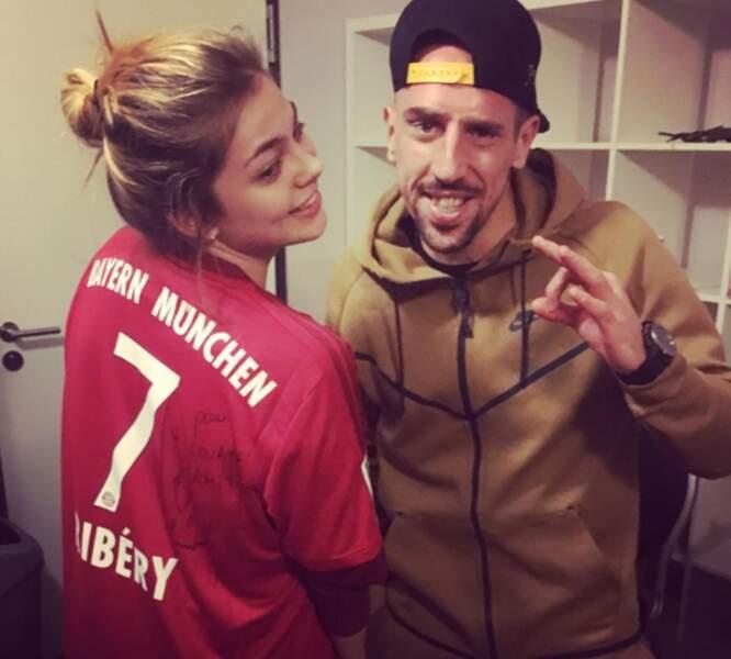 Louane était avec Franck Ribéry pour faire tourner la routourne.