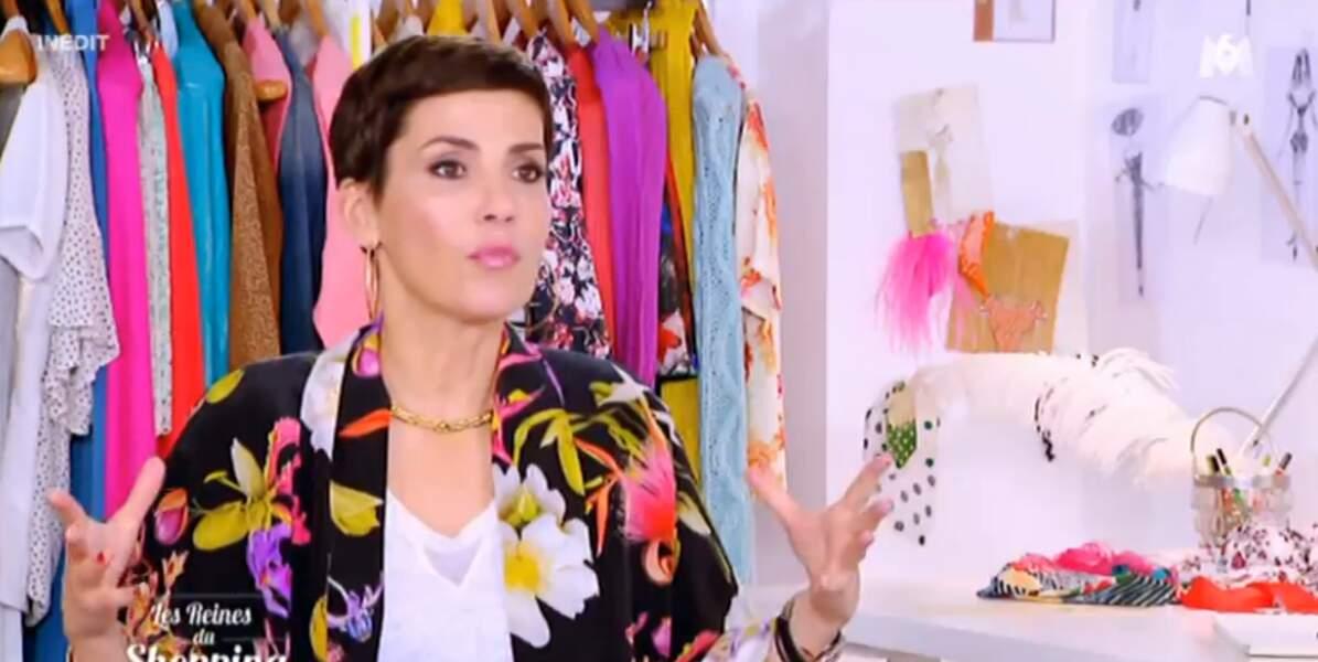 Cristina Cordula valide (et on valide son kimono fleuri)