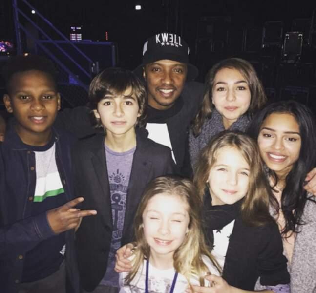 Soprano rencontrait les enfants chanteurs de Kids United.