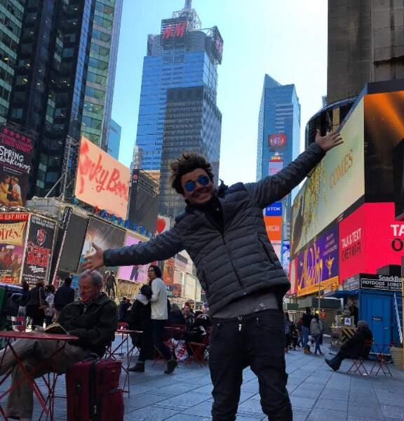 Vacances... Kev Adams se la joue frenchman in New York