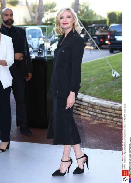 Kirsten Dunst, membre du jury, venue s'amuser entre deux projections officielles