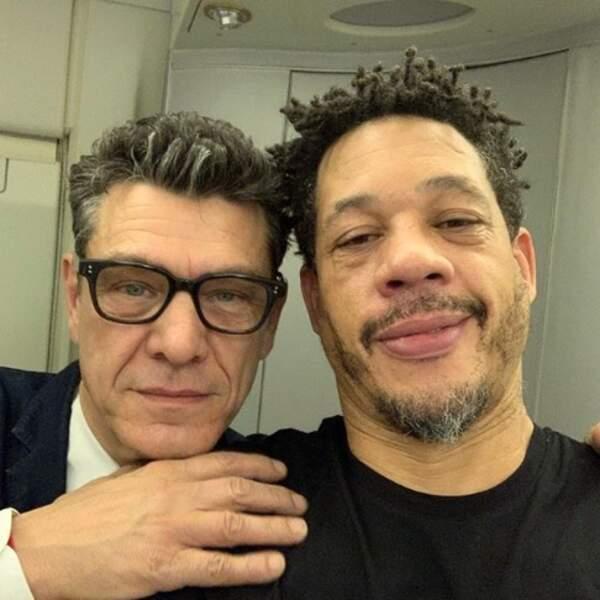 Et Marc Lavoine et JoeyStarr se sont retrouvés dans un avion.