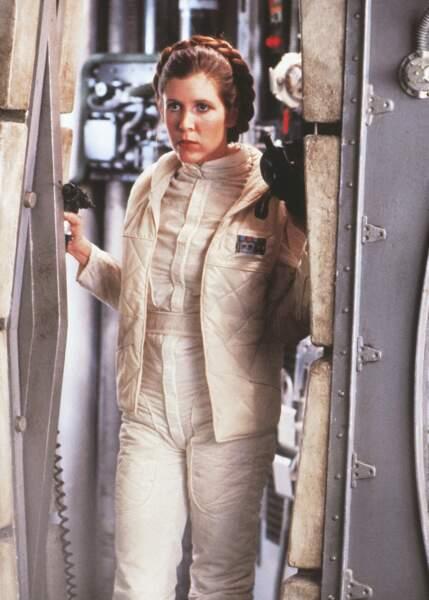 Leia en tenue de combat dans L'Empire contre-attaque