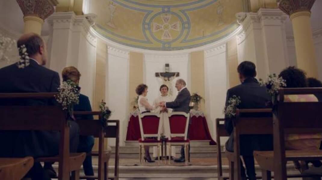 Mars : pour faire plaisir à Mirta, Roland accepte de se remarier à l'église