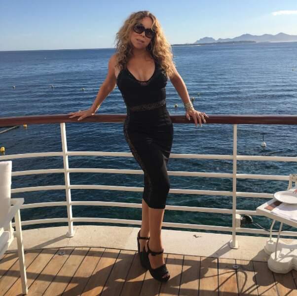 Mariah Carey au large l'Italie, 100% naturelle et spontanée.