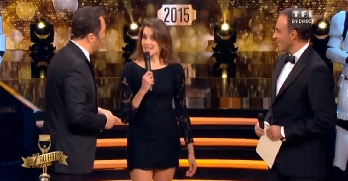Fanny Agostini a elle aussi misé sur une (toute petite) robe noire
