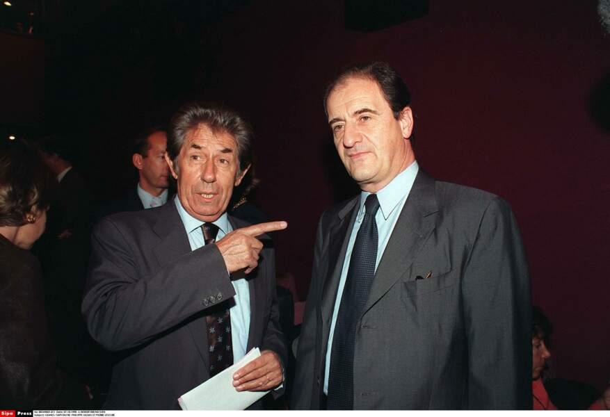 Le voici à Cannes en 1998 avec Pierre Lescure l'ancien patron de Canal +